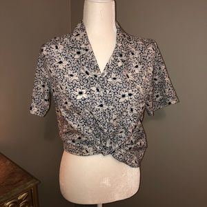 Vintage floral button down top